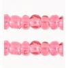 Cut 11/0 Transparent Light Pink Strung